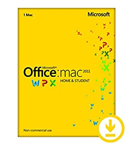 Microsoft Office Home & Student 2011   1 Device, 1 User   Mac Download