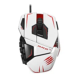 Mad Catz M.M.O.TE Tournament Edition Gaming Mouse for PC -White