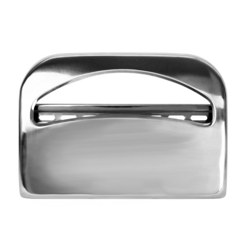 Excellante Half Fold Toilet Seat Cover Dispenser, Chrome, 16-Inch by 11 1/2-Inch by 3-Inch