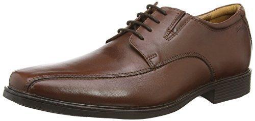 Clarks Tilden Walk - zapatos con cordones de cuero hombre, color marrón,...