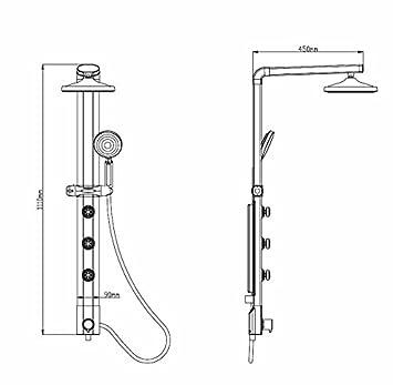 aluminium colonne de douche avec avec de la pluie led douche de de sanlingo bricolage z531. Black Bedroom Furniture Sets. Home Design Ideas