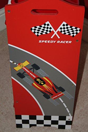 Étagère à jouets pour enfants Speedy Racer - Sérigraphie brevetée