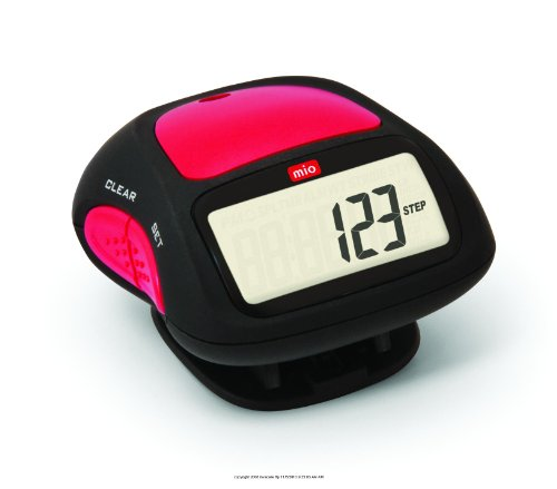 MIO Step 3 Pedometer with Alarm, Step 3 Pedometer W- Alarm, (1 EACH, 1 EACH)