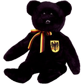 TY Beanie Baby - FREIHERR VON SCHWARZ the Bear (Germany Exclusive)