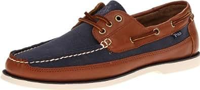 Polo Ralph Lauren Men's Bienne Boat Shoe,Navy/Tan,7 D US