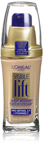 L'Oreal Paris Visible Lift Serum Absolute Advanced Age-Reversing Makeup, Nude Beige, 1.0 Ounces