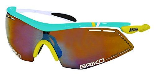 Briko Endure Pro Team Occhiale Bici e Trithlon, Multicolore, Taglia Unica