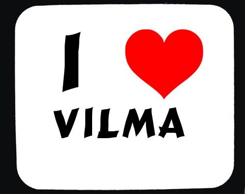 I Love Vilma custom mouse pad