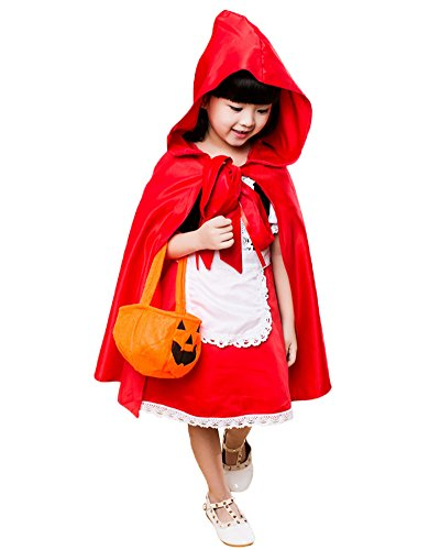 [LifeWheel Halloween Masquerade Costumes Children Red Hooded/Purple Princess/Frog/Princess/Playful Angel/Classic Princess/Dress Set Pretend Play] (Best Prohibition Costumes)