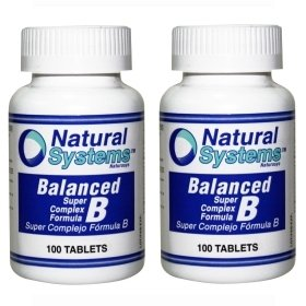 Natural Systems 2 Pack Balanced Vitamin B Complex 2X100 Tablets Energy Stress