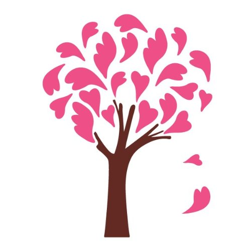 Heart Tree Wall Stencil For Painting A Heart Tree In A Library Or Girls Room front-991535