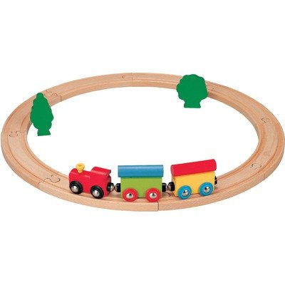 41mzCZ%2Bqd5L Cheap Buy  Nuchi Wooden Railway / 15 piece Beginners Circle Train Set