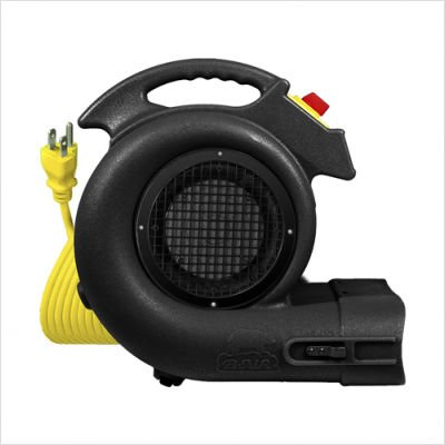 B-Air Grizzly Air Mover / Floor & Carpet Dryer - 1 HP, Model# GP-1 Black