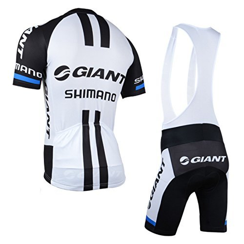 Outdoor Bike GIANT Men Short Sleeve Cycling Jersey Shirts Pants Cycling Jersey+Bib Short