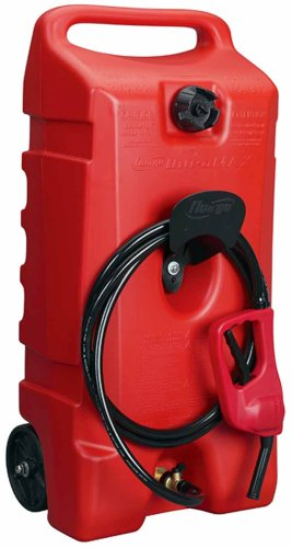 Moeller DuraMax Flo n' Go LE Fluid Transfer Pump and 14-Gallon Rolling Gas Can