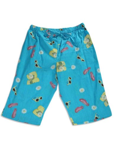 Pj Salvage - Big Girls' Summer Capri Pant, Turquoise 25796-Large