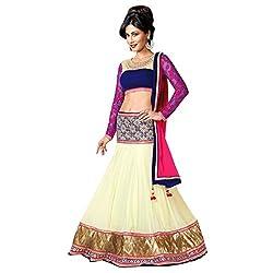 Khazanakart Exclusive Designer Multi Color Georgette Fabric Un-stitched Lehenga Choli With Chiffon Dupatta Material.