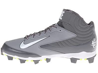 Buy Mens Nike Huarache Keystone 3 4 Molded Baseball Cleat Graphite White by Nike