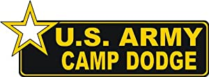 United States Army Camp Dodge Bumper Sticker Decal 6""