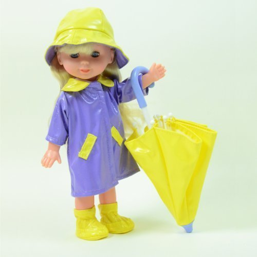 "Rainy Day Doll with Umbrella 10"" Doll - Colors May Vary by DREAM COLLECTION"