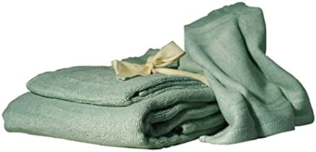 SHOO-FOO - 100 High Quality Bamboo Towels - 3 Pieces Towels Set - 600 GSM - Sage Green