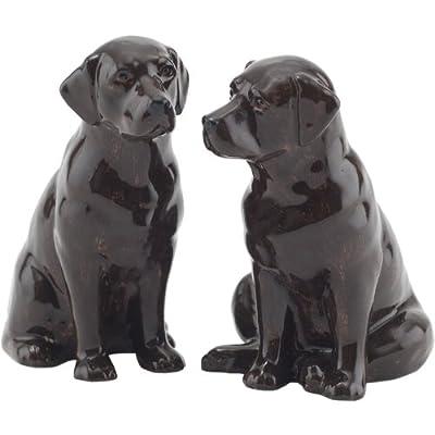 Quail Ceramics - Chocolate Labrador Salt And Pepper Pots by Quail Ceramics