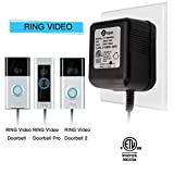 Power Adapter, Video Doorbell Power Supply 18 VAC Power Transformer for Ring Doorbell With ETL Certificate - Compatible with Ring Doorbell Ring Pro Nest Hello Doorbell