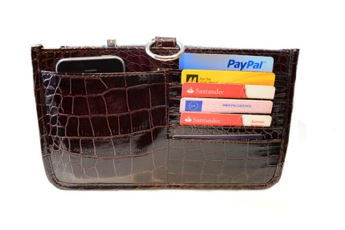 Periea Handbag Organiser, Liner, Insert 15 Pockets Medium - Deep Wine - Claire