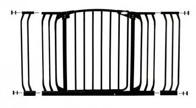 Dreambaby Pressure Mount Hallway Gate With Extensions, Black front-20708