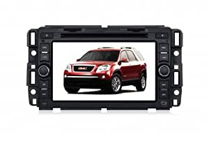 Piennoer In Dash Navigation Original Fit (2003-2011) GMC Yukon 6-8 Inch Touchscreen Double-DIN Car DVD Player & In Dash Navigation System,Navigator,Built-In Bluetooth,Radio with RDS,Analog TV, AUX&USB, iPhone/iPod Controls,steering wheel control, rear view camera input