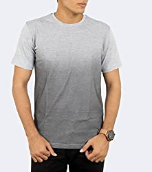 Younsters Choice Men's Cotton T-Shirt (YC-5839_Grey_Large)