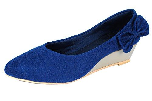 Lifestyle Kudos Lifestyle Women's Blue Suede Ballerinas