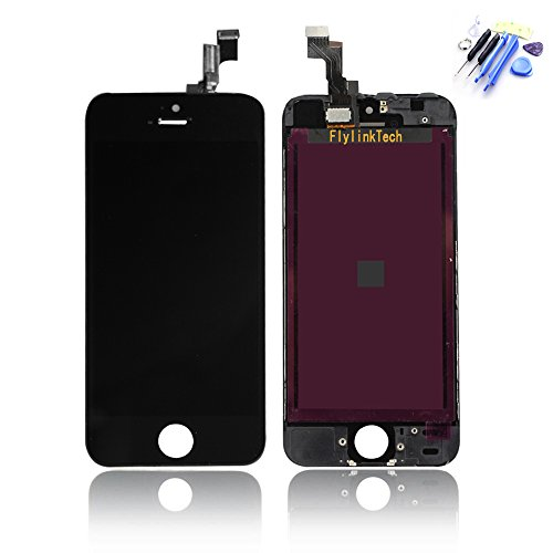 Flylinktech ® Black Front Housing Lcd Display Touch Digitizer Screen Assembly For Iphone 5S