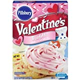 Pillsbury Valentine's Funfetti Sugar Cookie Mix w/ Candy Bits 17.5 Oz Box - Pack of Two