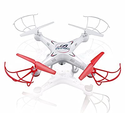 Akaso X5C 4CH 2.4GHz 6-Axis Gyro Headless RC Quadcopter with HD Camera, 360-degree 3D Rolling Mode RC Drone (Bonus MicroSD card & Blades Propellers included)