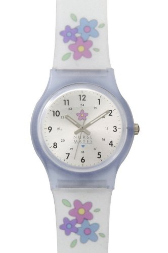 Cheap Frosted Flower Jelly Watch – NurseMates 866442 White (B005J6H9U4)