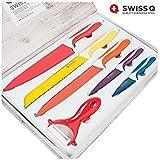 Jeu de 6 Couteaux Support en Acier Inox Swiss Q