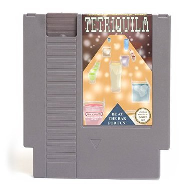 Tetris NES Drinking Flask TETRIQUILA - Nintendo Cartridge Concealed Hip Flask 4.25 ounces - LIMITED EDITION SERIES 2 - Nintendo Entertainment Flask - Retro NES Video Game Flask (Whiskey Merchandise compare prices)