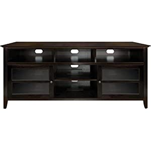 Bell'O No Tools Assembly Wood Audio/Video Cabinet in Dark Espresso Finish