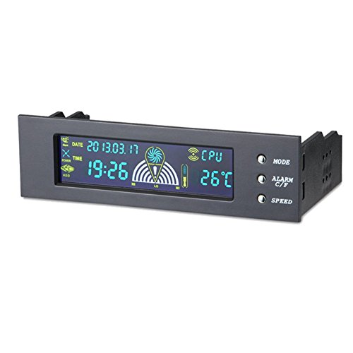 Amebay 5.25 Inch Bay Front LCD Panel 3 Fan Speed Controller CPU Temperature Sensor Computer (Pc Fan Control Panel compare prices)