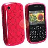 Clear Hot Pink Rubber Skin TPU Case for Blackberry Curve 8520 8530 9300 933 ....