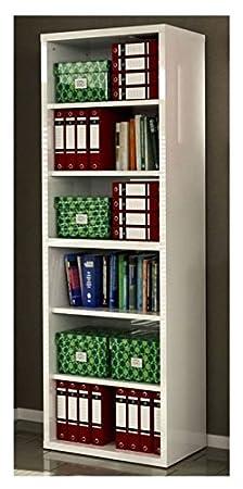 Composad Libreria componibile 80x220x36cm colore laccato bianco