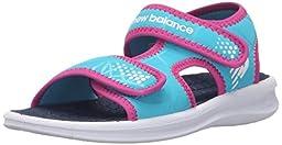 New Balance Sport 2 Strap Adjustable Sandal (Infant/Toddler/Little Kid/Big Kid), White/Blue, 1 M US Little Kid