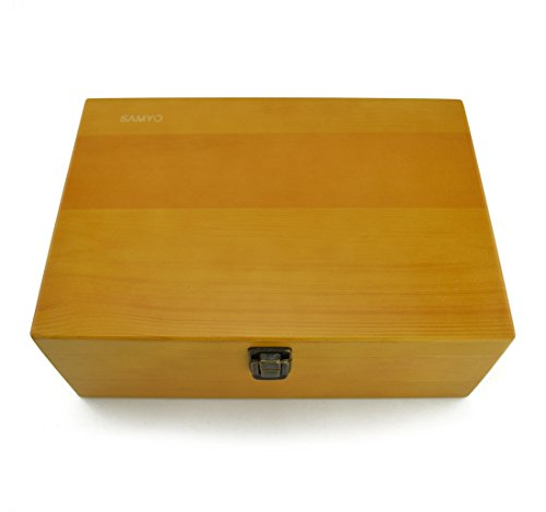 Samyo Aromatherapy Essential Oil Wooden Storage Gift Box Fits 24 Bottles Size from 5 ML to 30 ML