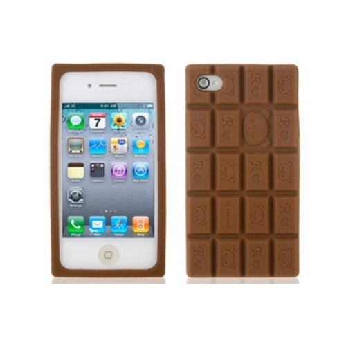 Chocolate Design Silicone Protective Case Cover For iPhone 4 4S