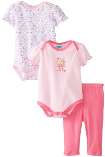 Bon Bebe Baby-Girls Newborn I Love Hugs 3 Piece Legging Set, Multi, 0-3 Months front-985970