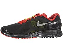 Mens Nike Air Lunareclipse Running Shoes Black / Silver / Red 487983-006, 12