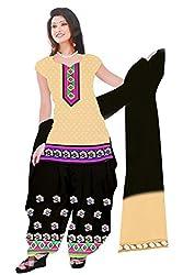 Dharmnandan Fashion Panghat Carmine color Cotton Woman's Fancya Dress Material