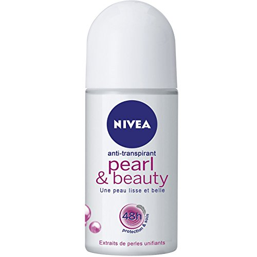 Nivea Pearl&Beauty Roll-On, Deodorante donna, 50ml
