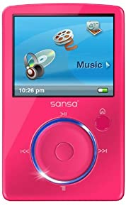 Sandisk Sansa Fuze 4GB MP3 and Video Player with FM Radio, Voice Recorder, microSD/SDHC Slot, PINK, BULK PACKAGED